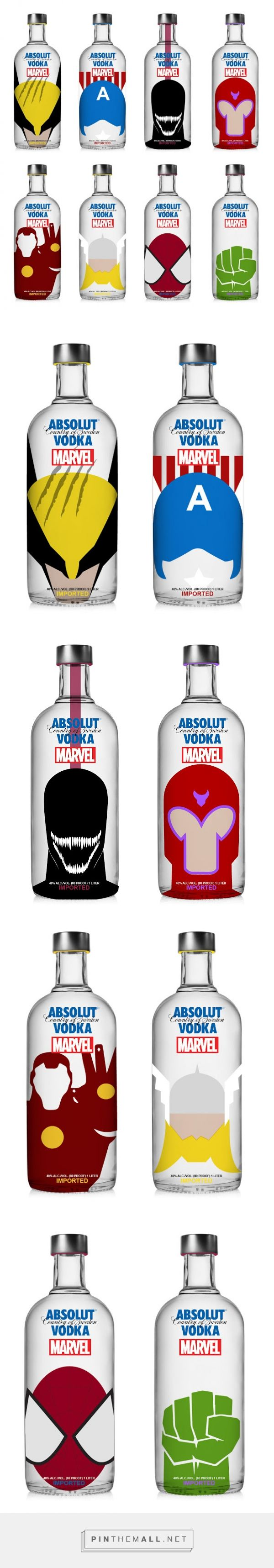 Absolut Vodka x Marvel Concept designed by Krizia Soetaniman - http://www.packagingoftheworld.com/2015/11/absolut-vodka-x-marvel-concept.html