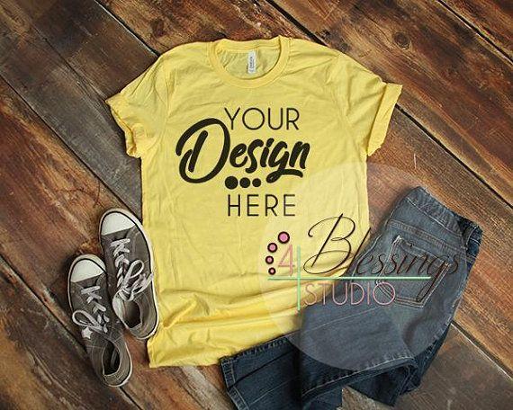 Download Free Yellow Bella Canvas Mockup T Shirt Mockup 3001 Unisex Yellow Psd Free Psd Mockups Free Psd Mockups Templates Shirt Mockup Clothing Mockup