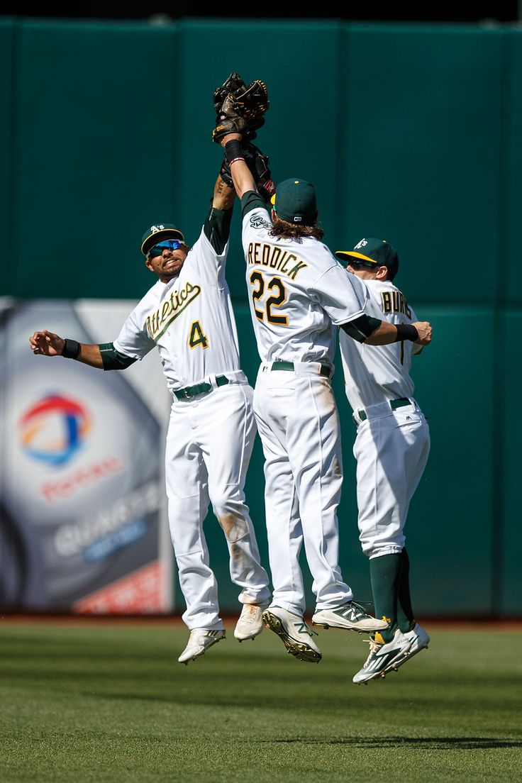 best images about green collar baseball opening high fives n the outfield after an a s win 17 2016 joshreddick