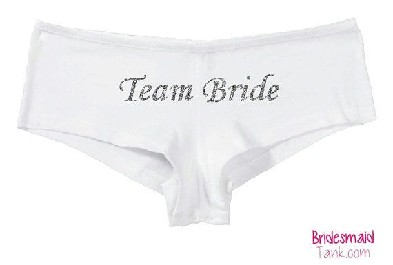 White TEAM BRIDE Boyshorts White BLING by BridesmaidTank on Etsy