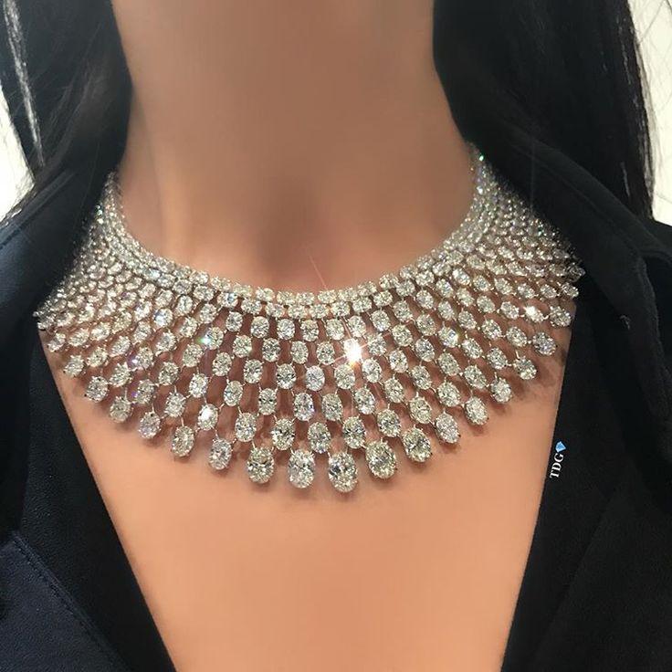 thediamondsgirl. The perfect oval shape diamond necklace at @kamyenjewellery .