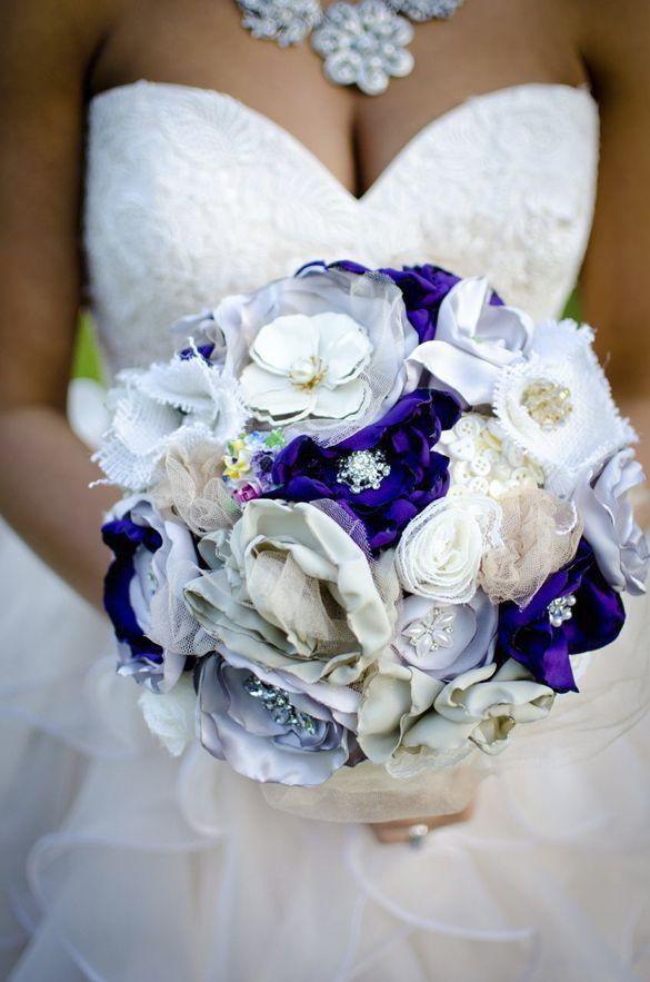 363 best Fabric Wedding Bouquet images on Pinterest | Bridal ...