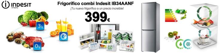 Frigorífico combi Indesit aun precio increíble http://www.esmio.es/blog/frigorifico-combi-indesit/