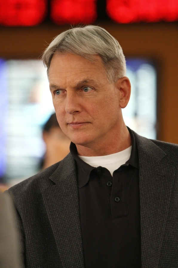 Gibbs' Look (season 9, episode 16) : When a high-level security Navy reservist is found dead, Gibbs (Mark Harmon, pictured) goes face-to-face with Dr. Samantha Ryan (guest star Jamie Lee Curtis) of the PsyOps Division to uncover the truth behind the potential suicide on NCIS. Photo: Monty Brinton/ CBS ©2012 CBS Broadcasting, Inc. All Rights Reserved.