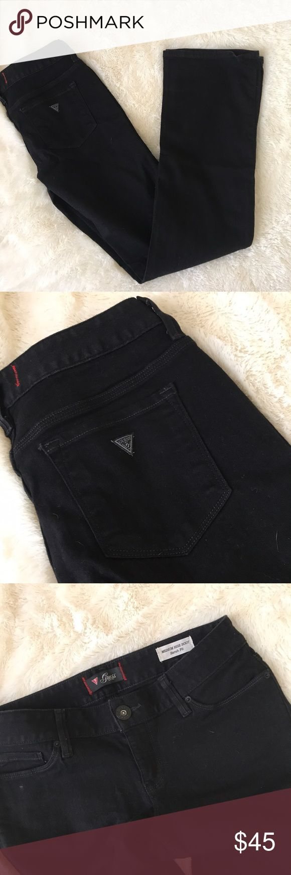 Black guess bootcut jeans 29 These are stretchy black bootcut jeans from guess. Size is 29. In great donation. Make me an offer, no trades. Guess Pants Boot Cut & Flare