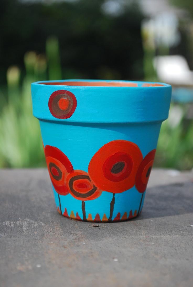 72 best images about macetas pintadas on pinterest art - Como decorar macetas de barro ...