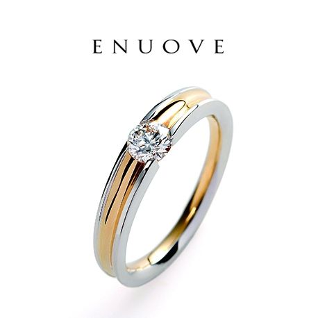 BIJOUPIKO(ビジュピコ):【ENUOVE】ダイヤの高さを抑えたひっかかりのないリング(ray-レイ-)爪なしのエンゲージリング・婚約指輪を集めました!