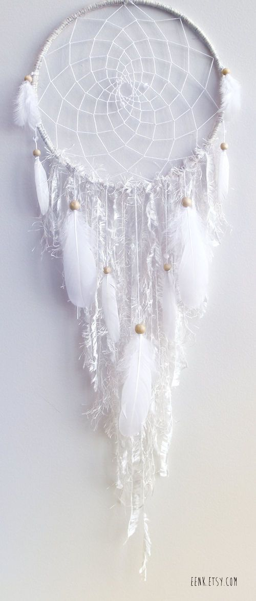 The White Arctic Fox Native Woven Dreamcatcher by eenk on Etsy on imgfave