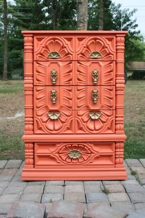 25+ Best Coral Painted Furniture Ideas On Pinterest   Coral Painted  Dressers, Bright Colored Furniture And Coral Furniture