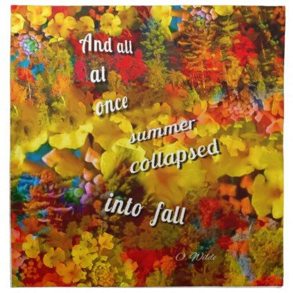 We can not imagine the Fall without that rain of c Napkin - fall decor diy customize special cyo