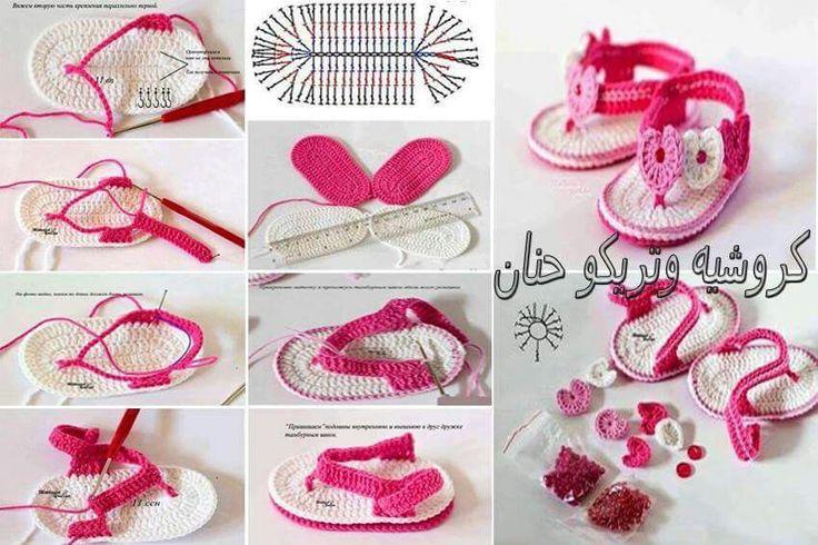 Sandales bb crochet