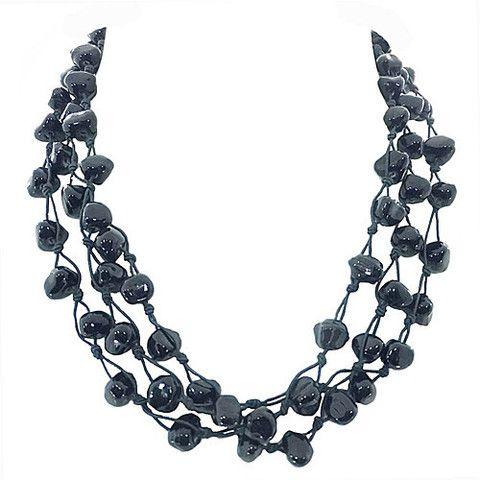 Metallic Mermaid - Black bead necklace – Jc & Crew