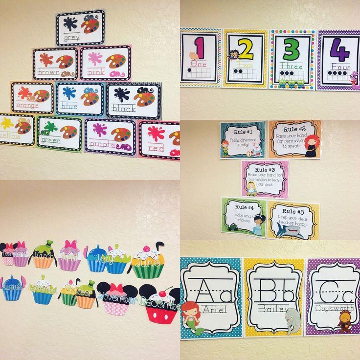 Disney classroom decor bundle!  Disney classroom | Disney decor | classroom decor | Disney classroom theme | preschool | preschool classroom | kindergarten | kindergarten classroom | first grade | first grade classroom | second grade | second grade classroom | Disney classroom ideas | Disney classroom decorations