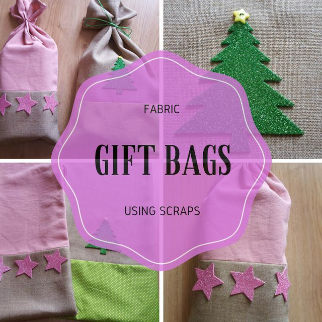 Keeping it Real: Fabric gift bags