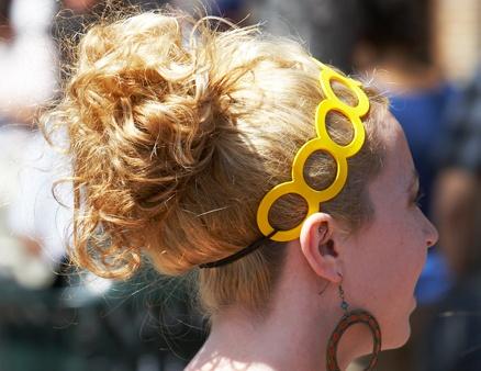 yellow headband - not for the faint hearted