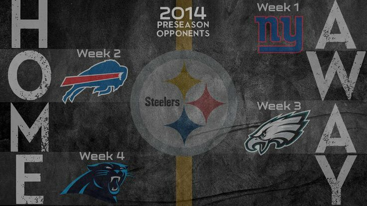 Via The Pittsburgh Steelers  · April 9 ·    Our 2014 preseason schedule has been released!  WATCH: http://stele.rs/1n4Vf2n READ: http://stele.rs/1sBtsL4