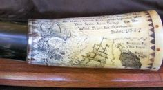 "Scrimshaw Powder Horns: with my links to ""How To Build Your Own Powder Horn"", and ""How to Scrimshaw"""