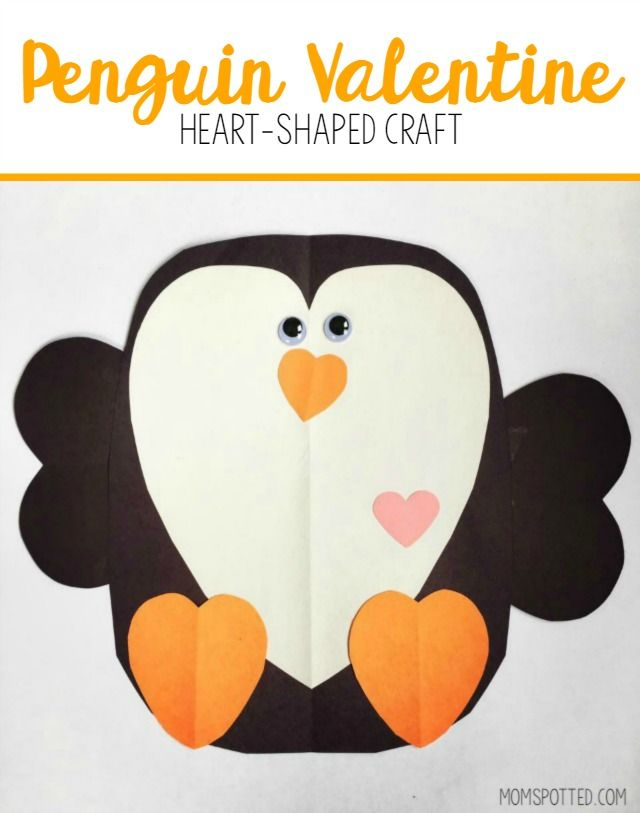 This cute Penguin Valentine is a fun puzzle-like craft for your child to make for their teacher or Grandma! When completed it's like giving a paper hug!