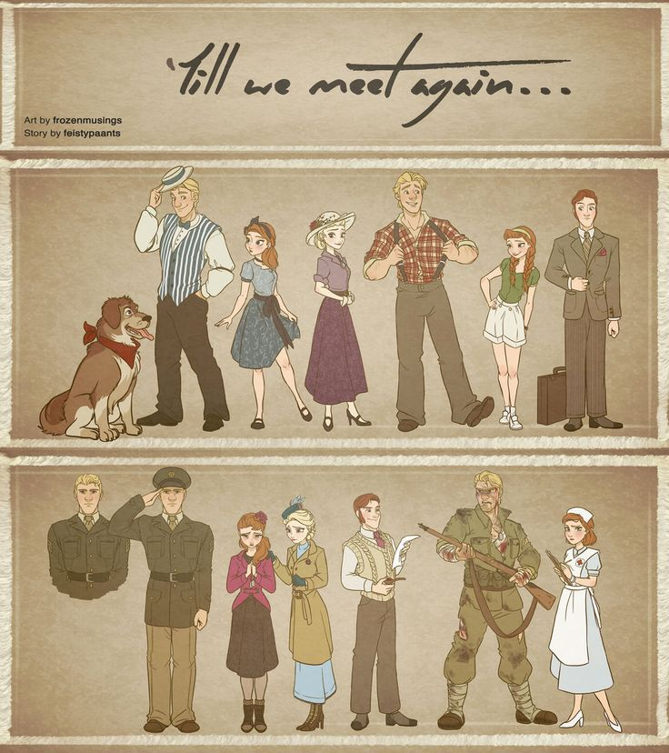 Till We Meet Again - Character Outfits by xxMeMoRiEzxx (Frozen AU FanFic art)