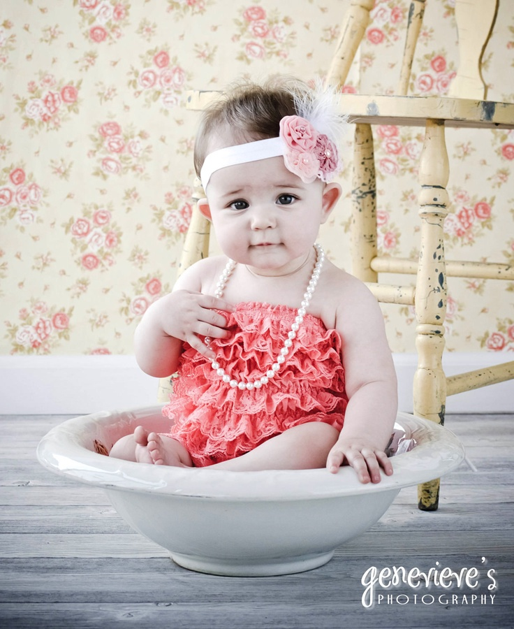 You Pick Size. Chicaboo Coral Ruffled lace petti romper / bloomer. Sizes for ages newborn to 4/5 years. More Colors available. $20.00, via Etsy.