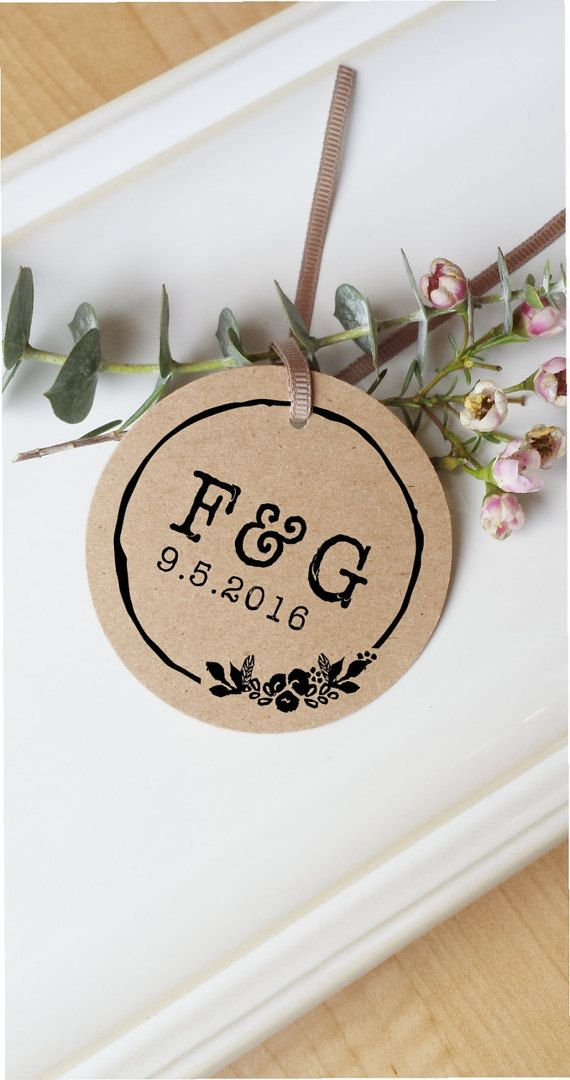Wedding Stamp Rustic Wedding Stamp Initials Stamp  by ThePrintMint