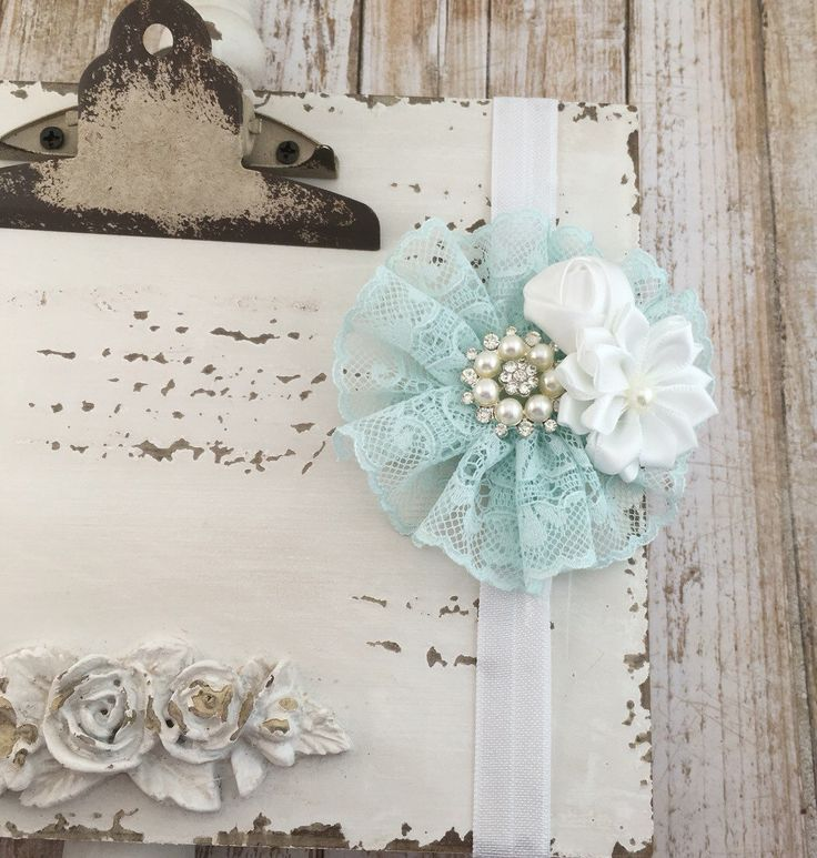 Mint Baby Headband with Rhinestone, Baby Girl Headband, Tulle Headband, Baby Bows, Newborn Headband, Toddler Headband, Hair Accesories, Hea by mintypinky on Etsy