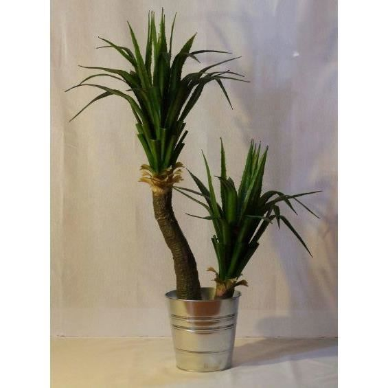 Yucca double plante artificielle exotique 1 20m decoration for Plante yucca