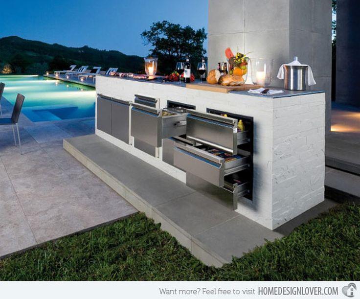 Cool 46 Modern Outdoor Kitchen Design Ideas. More at http://trendecor.co/2017/08/31/46-modern-outdoor-kitchen-design-ideas/