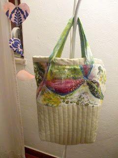 Bag - Saco com tecido Pintado