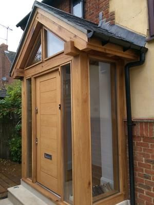 Vaulted Glazed Oak Porch
