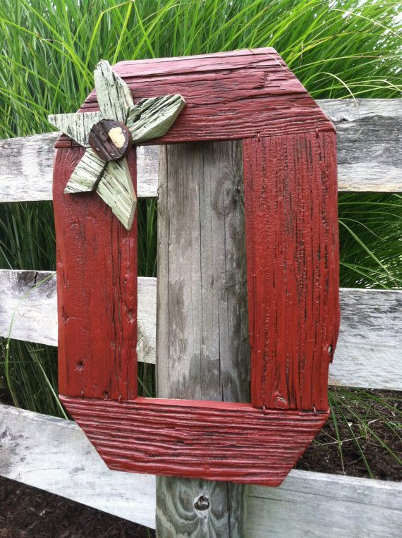 "CUSTOM MADE ORDERS  ~~~Repurposed Barn Wood Block ""0"" Buckeye Sign ~~~"