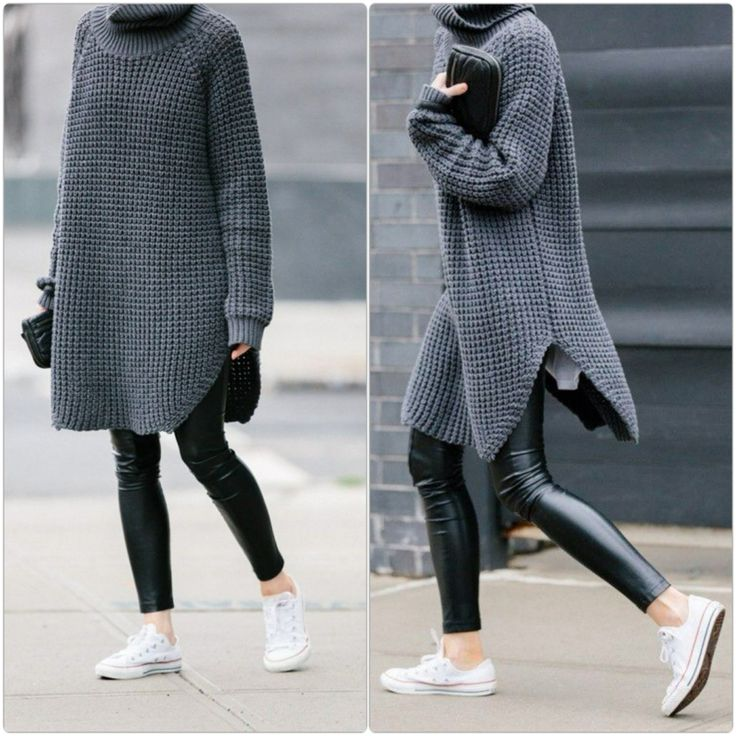 Winterpullover Sweatshirt Damen oversize