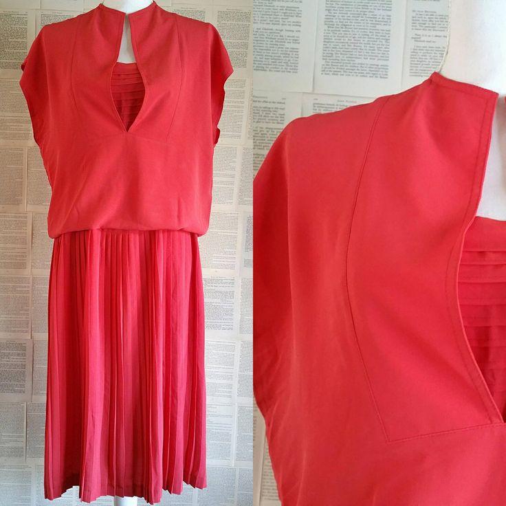 Watermelon Vintage Day Dress - Size 12-14 by MyVintageSundays on Etsy