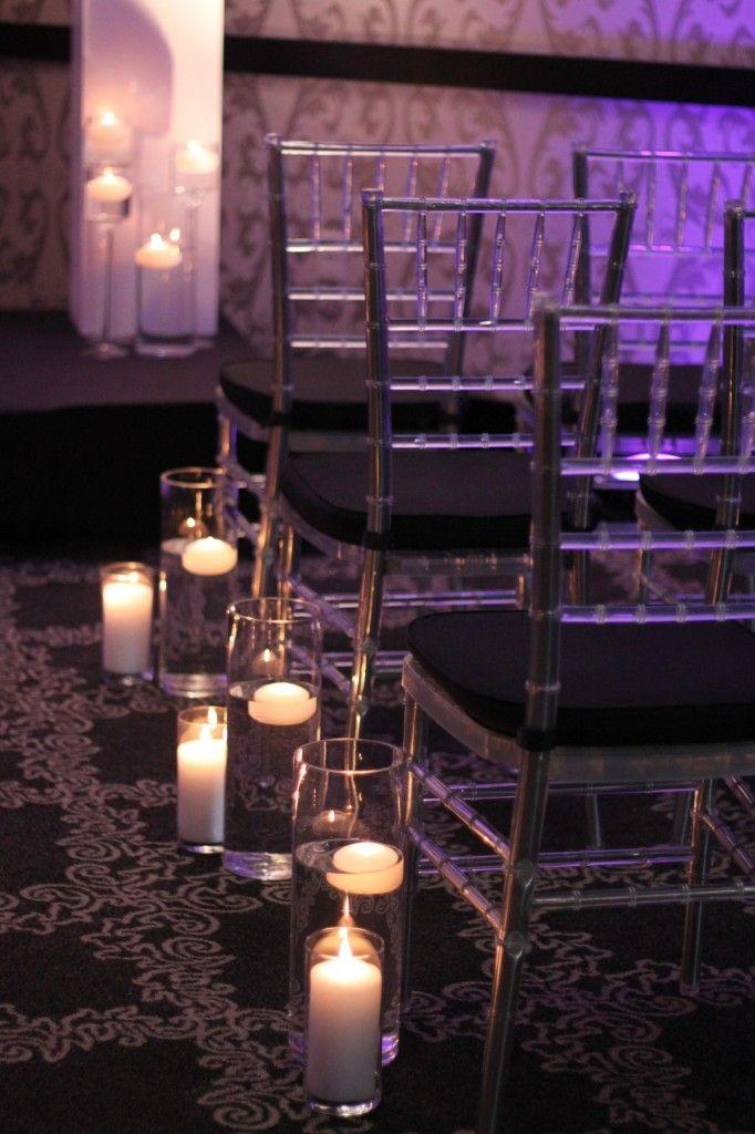 Fleur:ology Ceremony Floral Decor, candle aisle decor ...