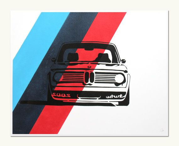 Classic Car Print - BMW 2002 Turbo - M Colors