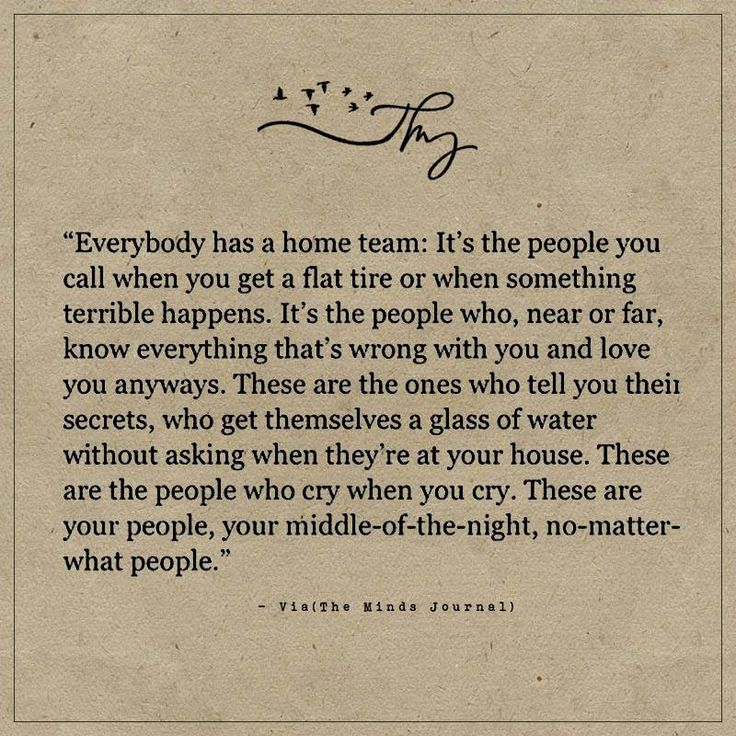 Everybody has a home team - http://themindsjournal.com/everybody-has-a-home-team/