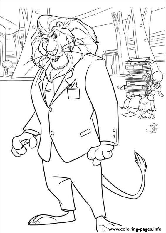 Print Zootopia 16 Coloring Pages