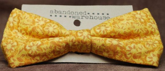 Golden Suns bow bow tie / hair bow by AbandonedWarehouse on Etsy