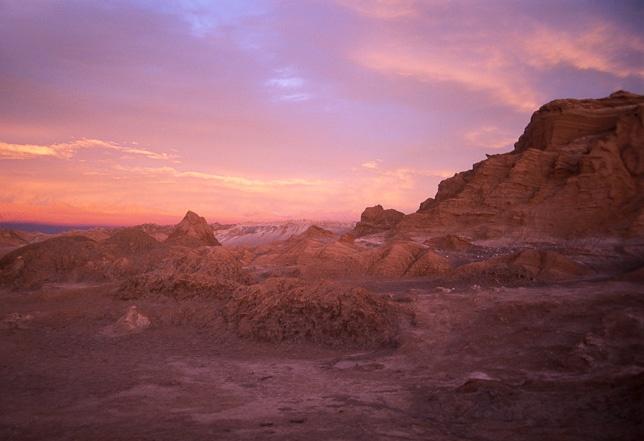 Valle de la Luna al atardecer, San Pedro de Atacama