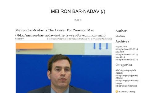 Meiron Bar-Nadav is a highly a experienced lawyer who practices law in the state of New Jersey and knows how the appeal process works through the appellate court system,