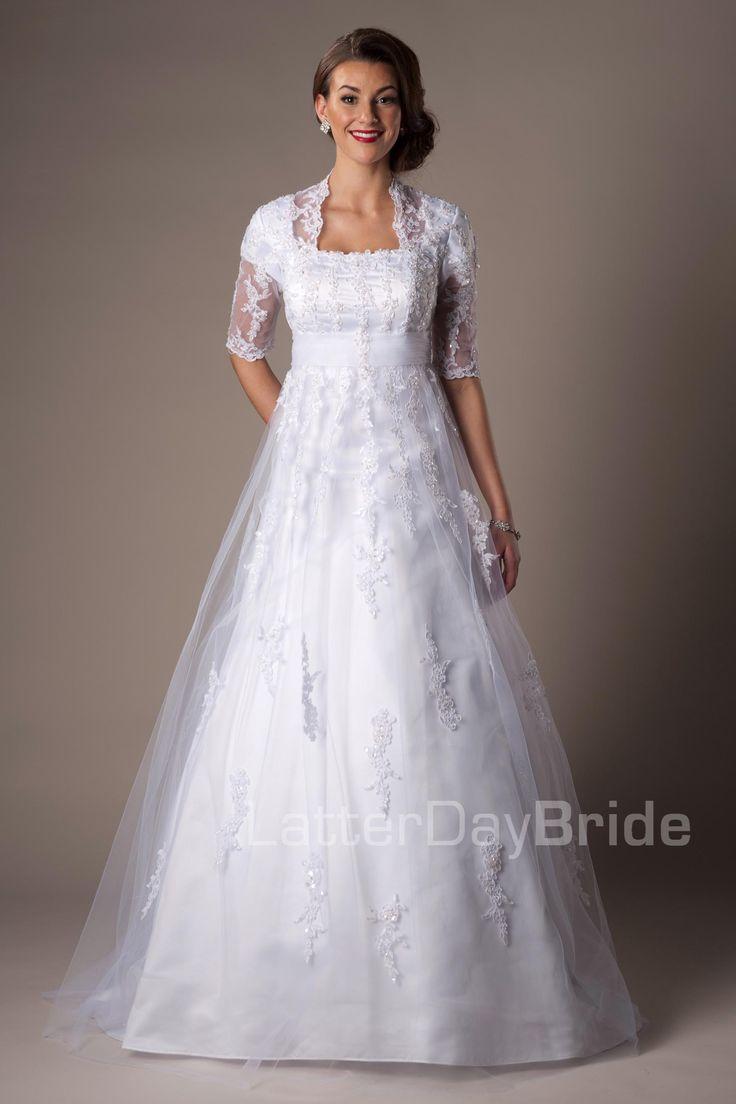 25+ best ideas about Latter day bride on Pinterest   Modest ...