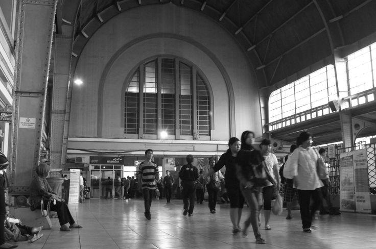 Inside Kota train station