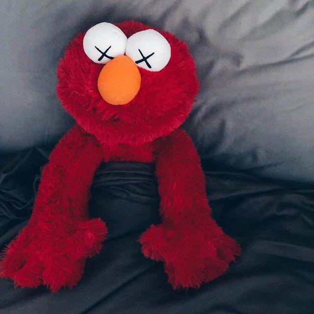 Kaws X Sesame Street X Uniqlo Elmo Plush Toy Elmo Wallpaper Elmo Plush Elmo Plush Toy