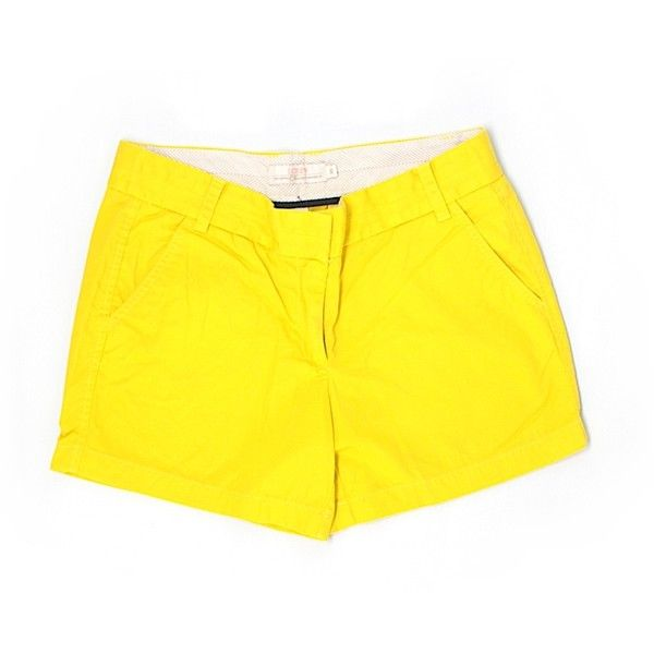 Pre-owned J. Crew Khaki Shorts Size 10: Gold Women's Bottoms ($17) ❤ liked on Polyvore featuring shorts, gold, j. crew shorts, khaki shorts and gold shorts