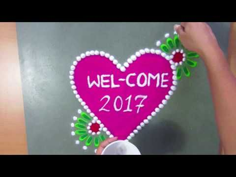 rangoli design images new| simple rangoli images| rangoli images for competition - YouTube