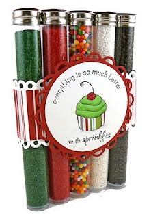 Test Tubes for a holiday cookie (or cupcake!) decorating set.