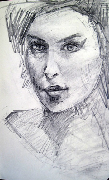 """Sketch, pencil on paper 5x8"""" by Rima Muna for sale #gift #art http://www.etsy.com/listing/98429605/sketch-of-amy-winehouse"""