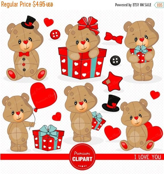 70% OFF SALE Valentine clipart, Baby boy clipart, Teddy bear clipart, Baby shower clipart, Valentines day, Valentine, Love clipart - S by PremiumClipart on Etsy