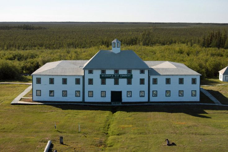 York Factory, oldest and most important extant building of the Hudson's Bay Company…with white siding & green trim.