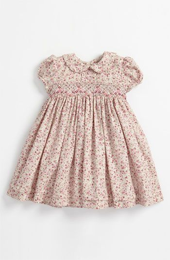 Luli & Me Floral Smocked Dress (Infant) available at #Nordstrom